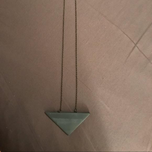 Jewelry - Ceramic triangle necklace.